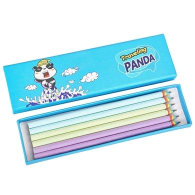 iscream上品匯硬紙筆盒彩虹鉛筆套裝創意旅行熊貓插畫文具盒學生