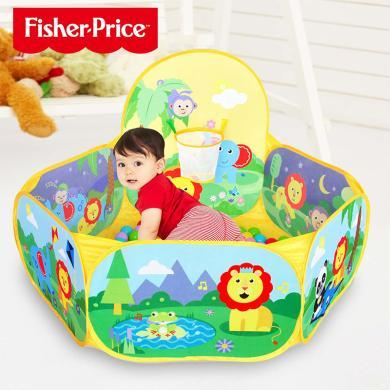 美國Fisher-Price費雪兒童游戲球池波波海洋球加厚彈力球 嬰兒玩具球池 兒童彩色球球池F0315
