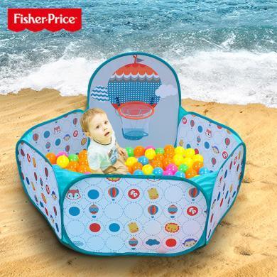 美国Fisher-Price费雪球池围栏波波海洋球加厚弹力球 婴儿玩具球池 儿童彩色球球池F0316