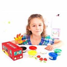 美乐 儿童手指画颜料无毒可水洗颜料儿童无毒儿童绘画手指画套装美乐校车款手指画