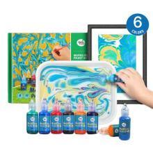 美乐水拓画套装浮水画颜料儿童无毒手指画水彩画画套装礼盒湿拓画