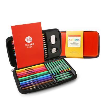 美乐 儿童绘画套装画笔套装文具礼盒蜡笔水彩笔套装儿童礼品礼物