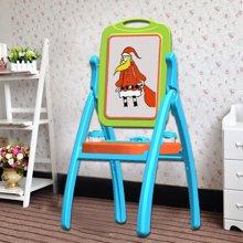 儿童画板画架双面写字板玩具宝宝彩色涂鸦支架式小黑板