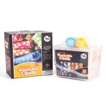 美乐 儿童花色大粉笔24色送粉笔套安全无毒无尘幼儿粉笔