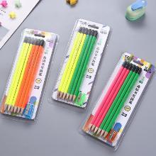 12支裝書寫鉛筆帶圈筆刀兒童鉛筆帶橡皮擦HB學生鉛筆削尖好辦公S2002/2003/2004隨機