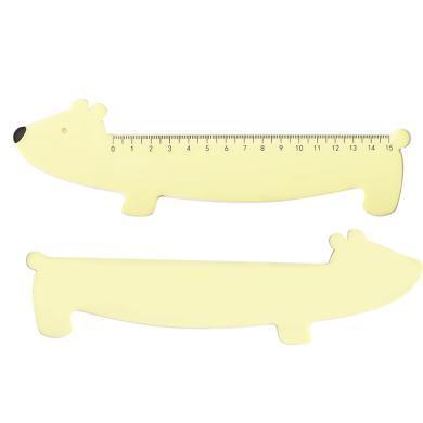 iscream上品匯創意動物15cm塑料辦公繪圖測量尺 學生考試繪畫直尺