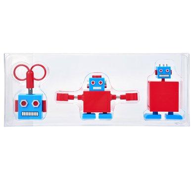 上品匯 創意機器人文具套裝 剪刀卷筆刀膠紙機三件套裝