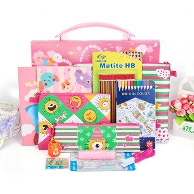 上品匯兒童手提盒文具套裝學汛禮品小學生新年禮物幼兒園禮盒包郵