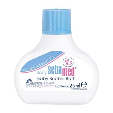 德國進口sebamed施巴嬰兒泡泡沐浴露25ML   二合一寶寶全身沐浴乳保濕滋潤