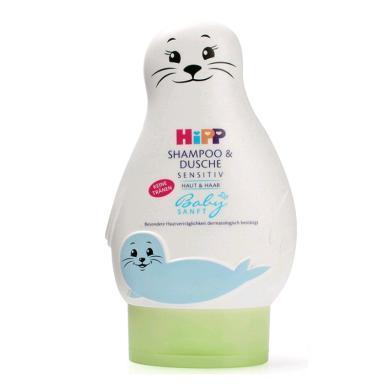 【支持购物卡?#24247;?#22269;喜宝Hipp婴儿免敏无泪洗发沐浴二合一200ml 小海狮
