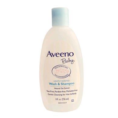 美国Aveeno艾维诺 宝宝天然燕麦沐浴液洗发水二合一 236ml