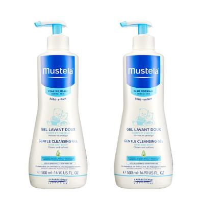 【2瓶】法国Mustela妙思乐 婴幼儿洗发沐浴二合一500ml/瓶