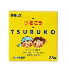 日本佐藤柔美Tsuruko婴幼儿宝宝专用润肤膏润肤霜 38g