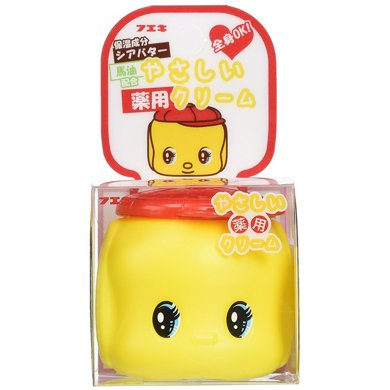 1瓶*日本嬰兒兒童寶寶Fueki好朋友乳霜 俏皮娃娃馬油保濕面霜 50g【香港直郵】