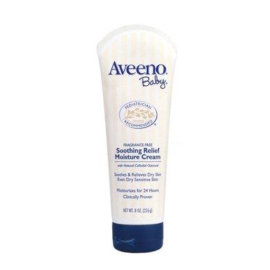 1支*美國艾維諾保濕嬰幼兒面霜Aveeno寶寶天然燕麥保濕潤膚霜面霜 (深藍)226g【香港直郵】