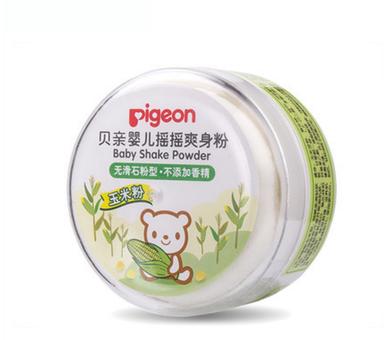 貝親嬰兒搖搖爽身粉 寶寶吸汗爽滑內含粉撲玉米粉 HA15