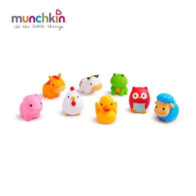 Munchkin/满趣健  农场小动物洗澡玩具(8只装)