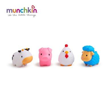 Munchkin/满趣健  农场小动物洗澡玩具(4只装)