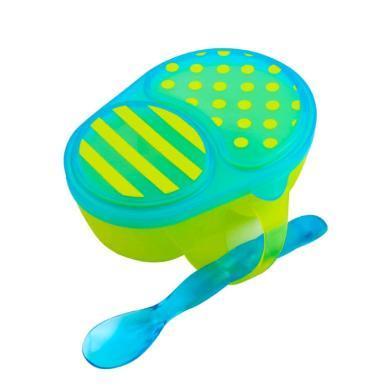 【支持购物卡】美国Sassy 宝宝辅食碗勺套装 不含BPA 颜色随机