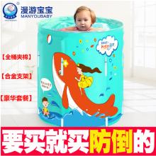漫游寶寶嬰兒游泳池--【合金支架】 --【夾棉】-【豪華版套餐】-【綠色】-【70cm直徑】可折疊