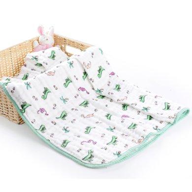 zolitt初生婴儿浴巾柔软吸水6层新生儿纯棉纱布儿童洗澡巾 全棉6层纱 无荧光剂