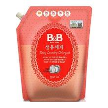 韓國保寧B&B嬰幼兒洗衣液寶寶專用衣服清潔劑1300ml
