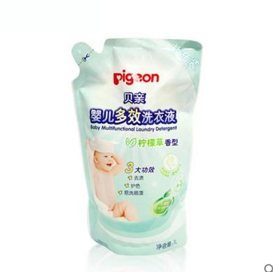 贝亲 婴儿多效洗衣液柠檬草香补充装 1L MA58