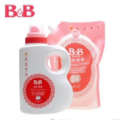 保宁洗衣液1500ML+1300ML 组合活动销售B&B洗衣液 韩国保宁洗衣液