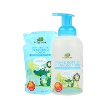 【震撼价】英国小树苗婴儿奶瓶清洗剂宝宝果蔬奶瓶葡萄柚泡沫清洁剂套装1L