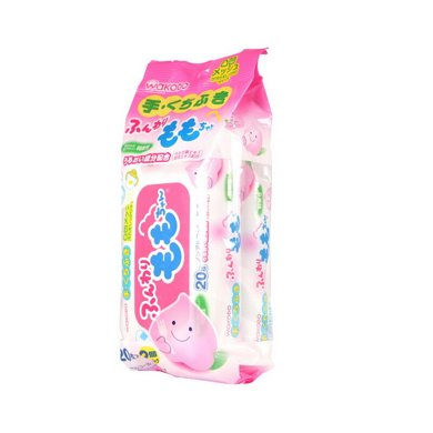 【臨期品】日本和光堂wakodo 嬰兒桃精華除菌濕手口紙巾(20片*2包)