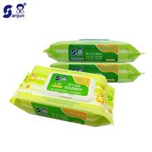 日本楚牌婴儿手口湿巾纸80抽带盖3联包新生儿宝宝用温和湿纸巾