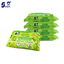 日本楚牌婴儿手口湿巾纸20抽5联包新生儿宝宝用清洁湿纸巾