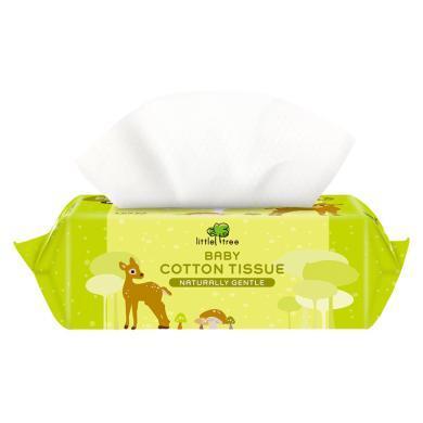 【嬰幼兒棉柔巾100抽1包】小樹苗嬰幼兒棉柔巾干濕兩用