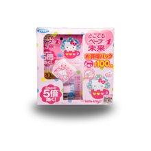 【香港直郵】日本未來VAPE寶寶嬰兒童便攜式驅蚊手表環無毒味HELLO KITTY粉色*1個套裝裝