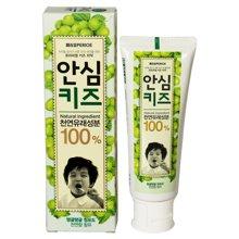 【2支】韩国LG倍瑞傲儿童牙膏80g青葡萄味