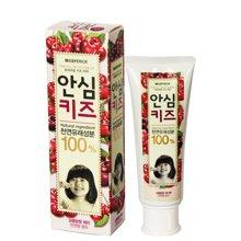 【2支】韩国LG倍瑞傲儿童牙膏80g樱桃味