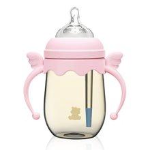 小白熊天使宽口防胀气PPSU奶瓶260ml(粉色)(09383)