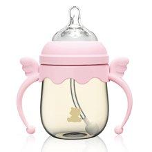 小白熊天使宽口吸管PPSU奶瓶160ml(粉色)(09387)