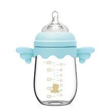 小白熊天使玻璃奶瓶240ml(藍)(09310)