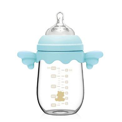 小白熊天使玻璃奶瓶240ml(蓝)(09310)