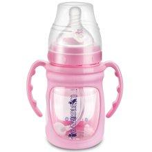 贝儿欣9安士宽口径生肖感温贴玻璃吸管奶瓶连硅胶保护套