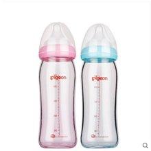 【贝亲】硅胶护层玻璃奶瓶240ml配M奶嘴AA132、AA133(粉色)