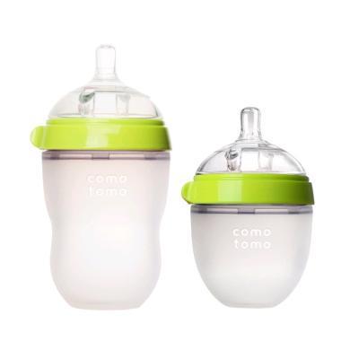 【支持购物卡】美国COMOTOMO可么多么宽口硅胶奶瓶150ml+250ml组合