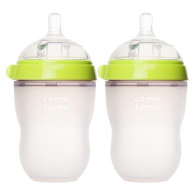 【支持購物卡】【2只】美國COMOTOMO可么多么寬口硅膠奶瓶250ml