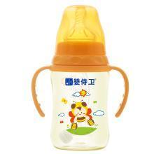 婴侍卫新生儿PPSU奶瓶宽口径宝宝奶瓶PPSU吸管婴幼儿奶瓶带手柄耐摔260ML图案随机 YSWF800
