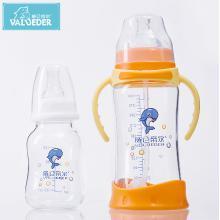 威仑帝尔晶钻玻璃奶瓶套装带手柄防撞婴儿奶瓶300ml+120ml 母乳实感宽口奶瓶BL030