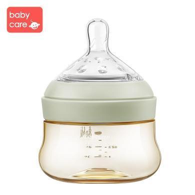 babycare新生兒奶瓶寬口徑ppsu嬰兒奶瓶80ml 耐摔防脹氣寶寶奶瓶1708