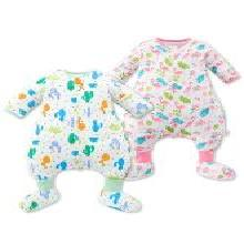 米乐鱼 婴儿睡袋夏季薄款 宝宝儿童纱布空调房防踢被夏天四季秋冬6层可拆袖带胶套M17SD181