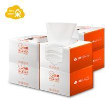 一朵纯棉清洁柔巾100抽1提6盒 干湿两用婴儿口手湿巾宝宝纸巾