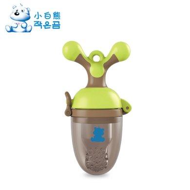 小白熊奶嘴型嬰兒咬咬訓練器(棕綠)(09291)